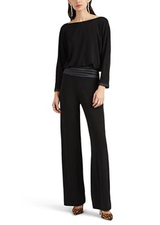 Giorgio Armani Women's Satin-Trimmed Draped Jersey Jumpsuit