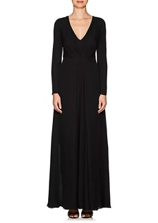 Giorgio Armani Women's Silk Chiffon Long-Sleeve Gown