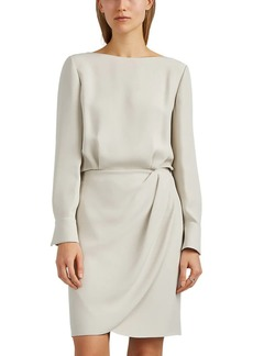 Giorgio Armani Women's Silk Crepe Blouson Dress