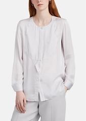 Giorgio Armani Women's Silk Crepe Tuxedo Blouse