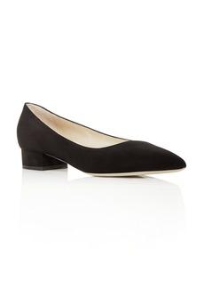 Giorgio Armani Women's Suede Pointed Toe Flats