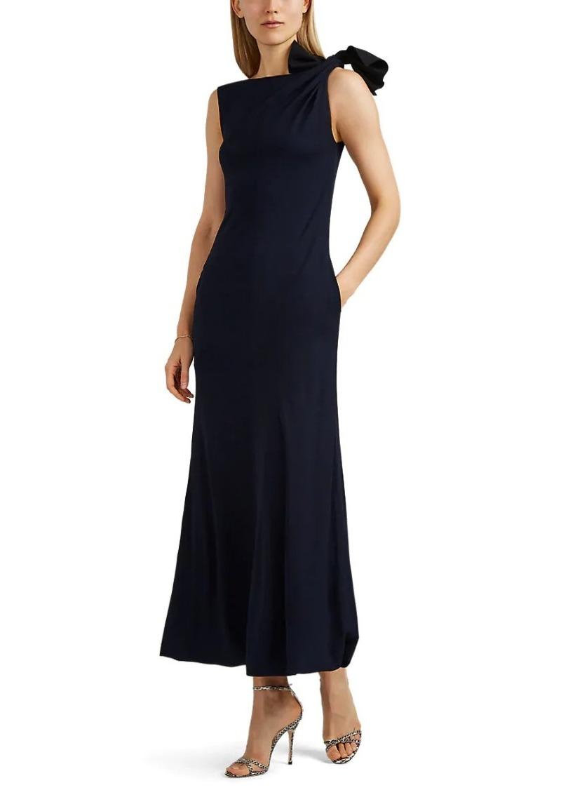Giorgio Armani Women's Tie-Shoulder Crepe Gown
