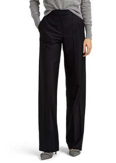 Giorgio Armani Women's Wool Faille Wide-Leg Trousers