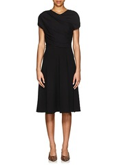 Giorgio Armani Women's Wool-Silk Ruched Sheath Dress