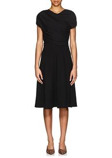 Giorgio Armani Women's Wool-Silk Ruched Sheath Dress