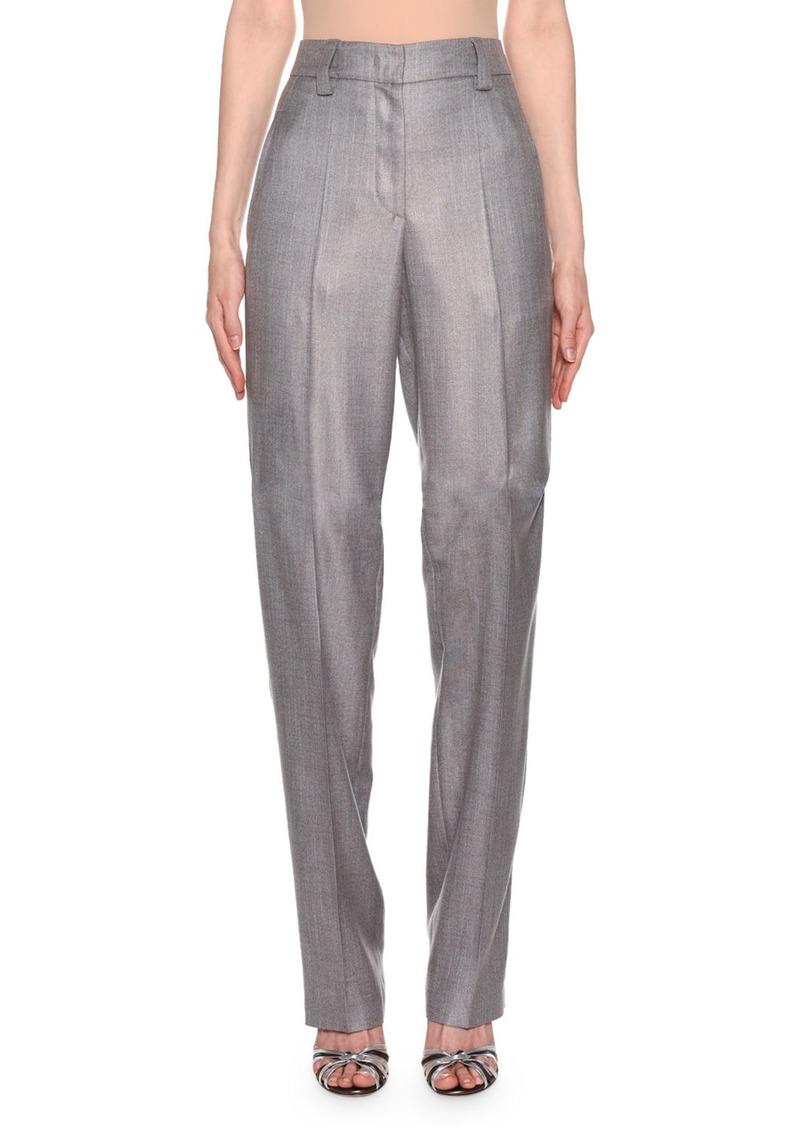 Giorgio Armani Zip-Front Classic Pants