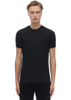 Armani Giorgio's Logo Stretch Viscose T-shirt