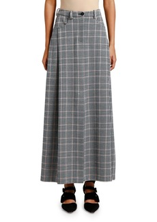 Armani Glen Plaid Maxi Skirt