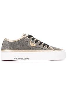 Armani glitter effect sneakers