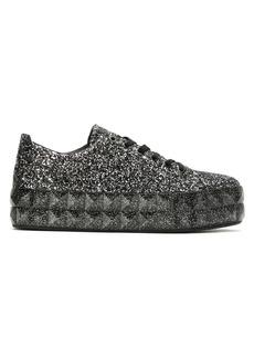 Armani glitter platform sneakers