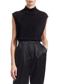 Armani Glitter Virgin Wool Sleeveless Top
