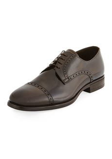 Armani Glossy Leather Lace-Up Oxford