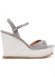 Armani goat suede wedge sandals