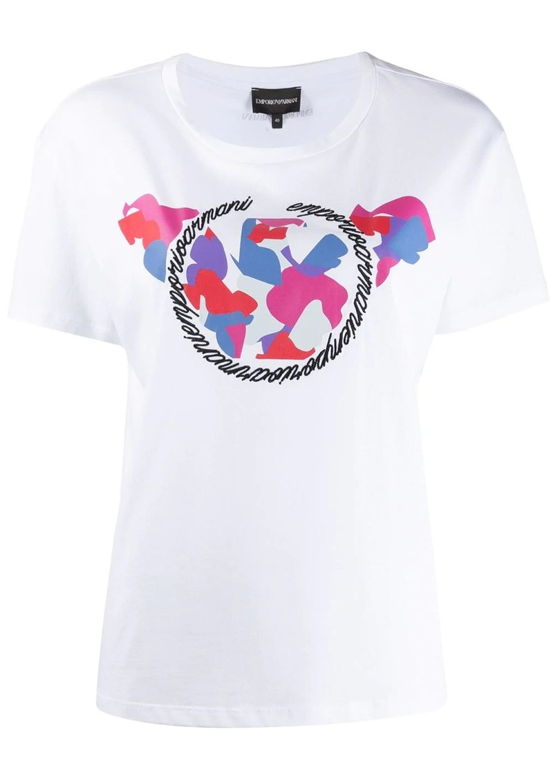 Armani graphic logo print T-shirt