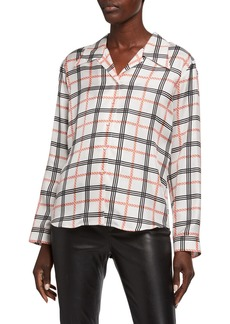 Armani Graphic Plaid Classic Blouse