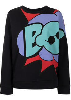 Armani graphic-print cotton sweatshirt