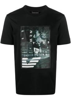 Armani graphic-print crew neck T-Shirt