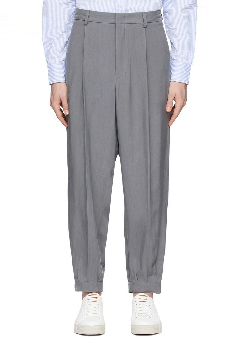 Armani Grey Cupro Enzyme Trousers