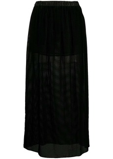 Armani grid-pattern midi skirt
