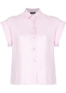 Armani half-sleeve cropped shirt