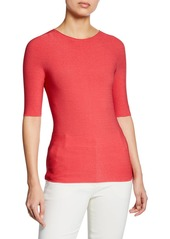 Armani Half-Sleeve Ribbed Top