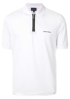 Armani half-zip mesh panel polo shirt