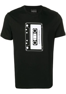 Armani headphones print T-shirt