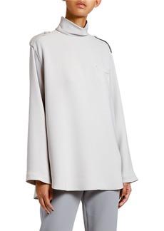 Armani Heavy Silk Mock-Neck Tunic