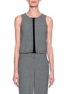 Armani Herringbone Blouson Vest  Gray