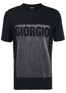 Armani herringbone logo T-shirt