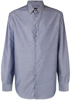 Armani herringbone print shirt