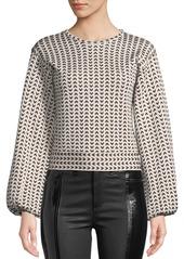 Armani Herringbone-Striped Full-Sleeve Top