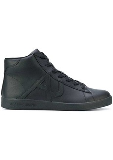 Armani hi-top lace up sneakers