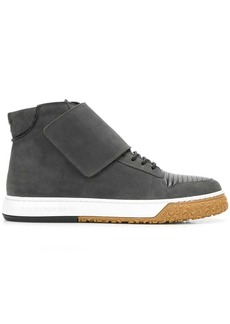 Armani hi-top strap sneakers