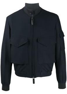 Armani high-collar logo bomber jacket