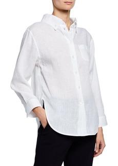 Armani High-Low Linen Front Shirt