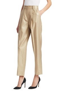 Armani High-Rise Cropped Pants with Pleats