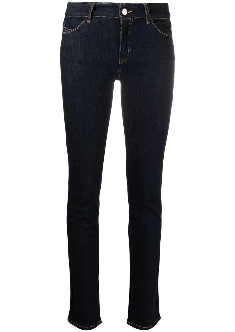 Armani high-rise skinny-cut cotton jeans