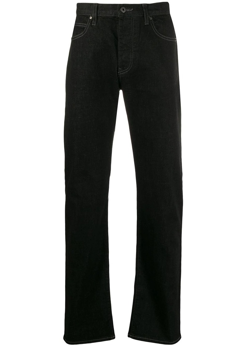 Armani high rise straight leg jeans