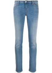 Armani high rise straight-leg stonewashed jeans