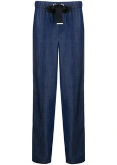Armani high-rise straight leg trousers