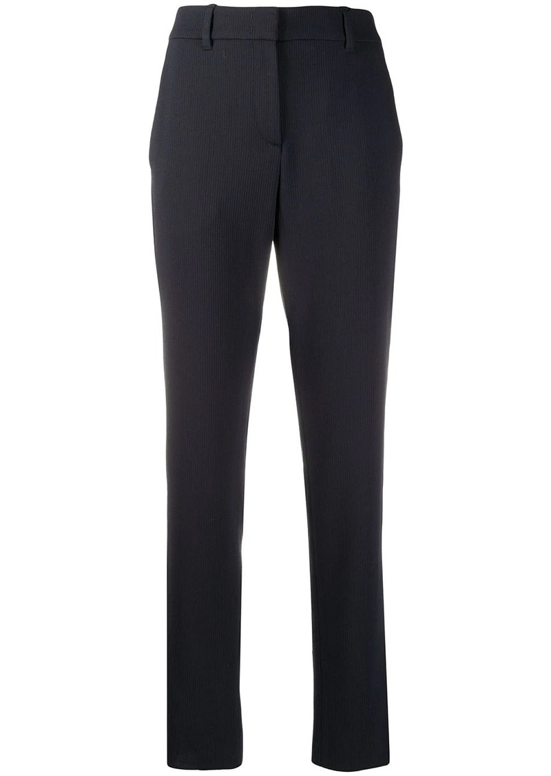 Armani high-waisted slim fit trousers