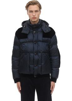Armani Hooded Down Jacket W/velvet Details
