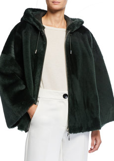 Armani Hooded Lamb Shearling Coat
