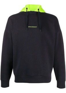 Armani hooded logo sweater