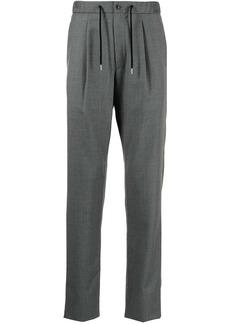 Armani invert pleat drawstring-waist trousers