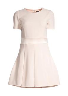 Armani Inverted Pleats Flared Dress