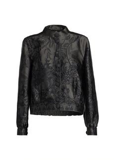 Armani Jacquard Button Silk-Blend Jacket