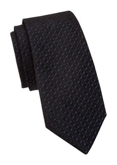Armani Jacquard Check Silk-Blend Tie