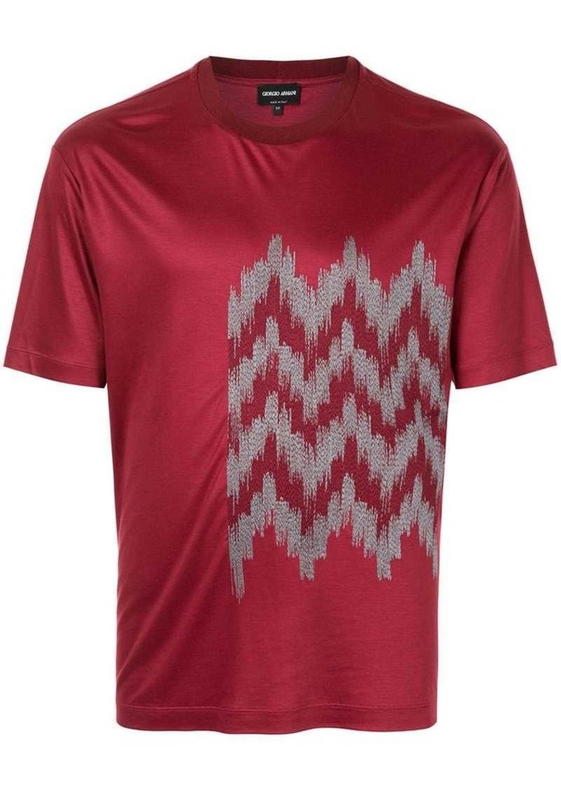 Armani jacquard detail T-shirt